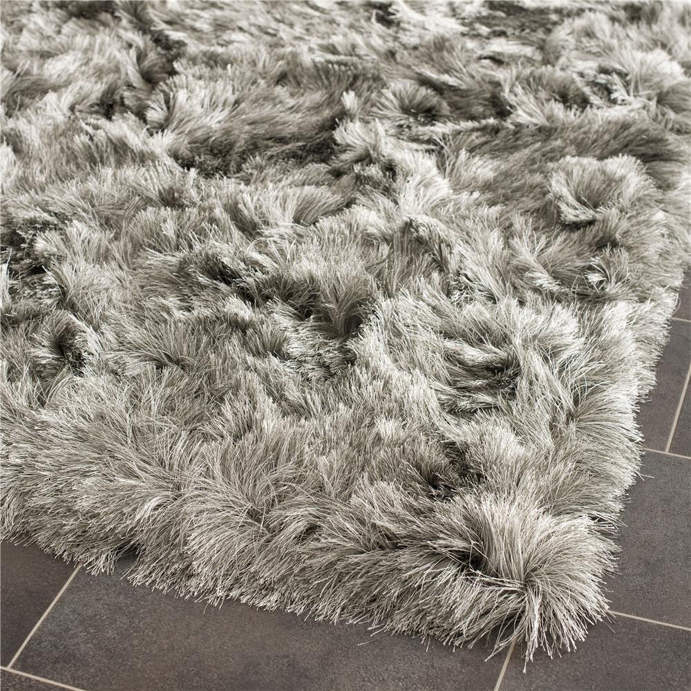 Safavieh SG511-7575-3 Paris Shag Area Rug in SILVER / SILVER