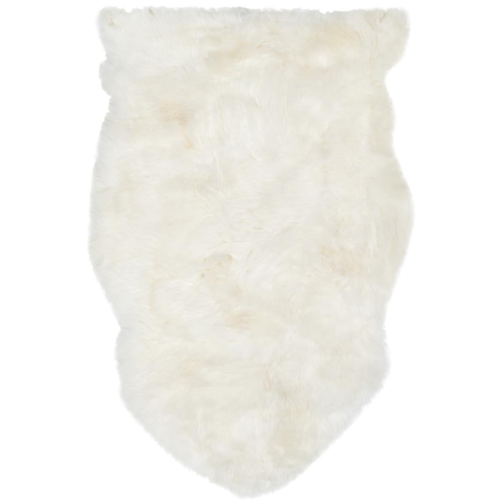 Safavieh SHS211A-2 SHEEP SKIN Indoor in WHITE