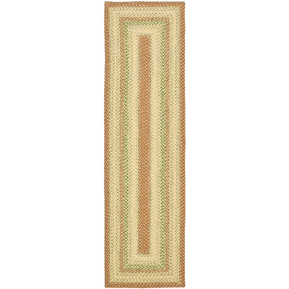 Safavieh BRD303A-28 Braided Area Rug in RUST / MULTI