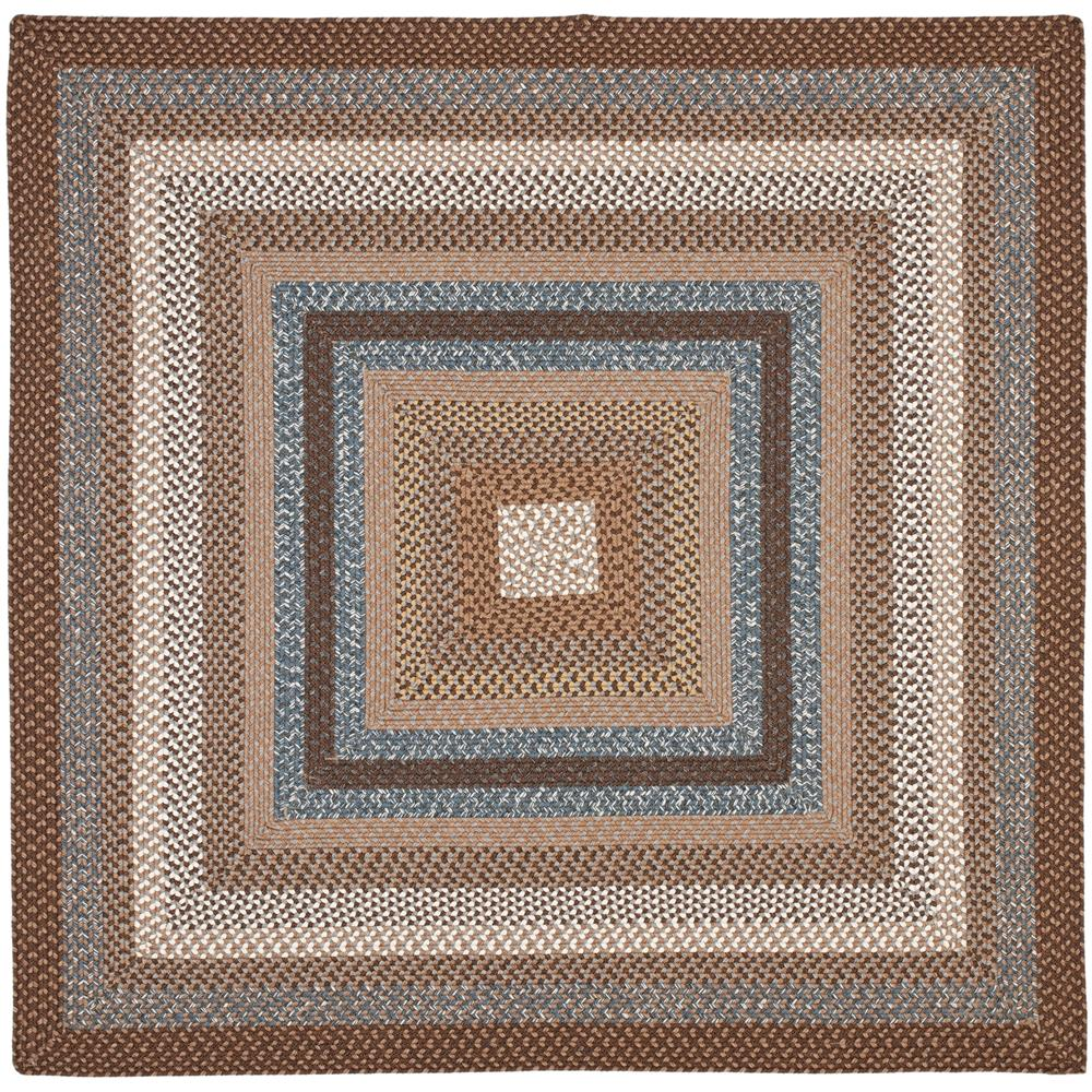 Safavieh BRD313A-6SQ Braided Area Rug in BROWN / MULTI