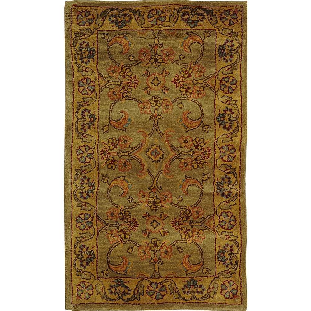 Safavieh CL324A-2 Classic Area Rug in LIGHT GREEN / GOLD