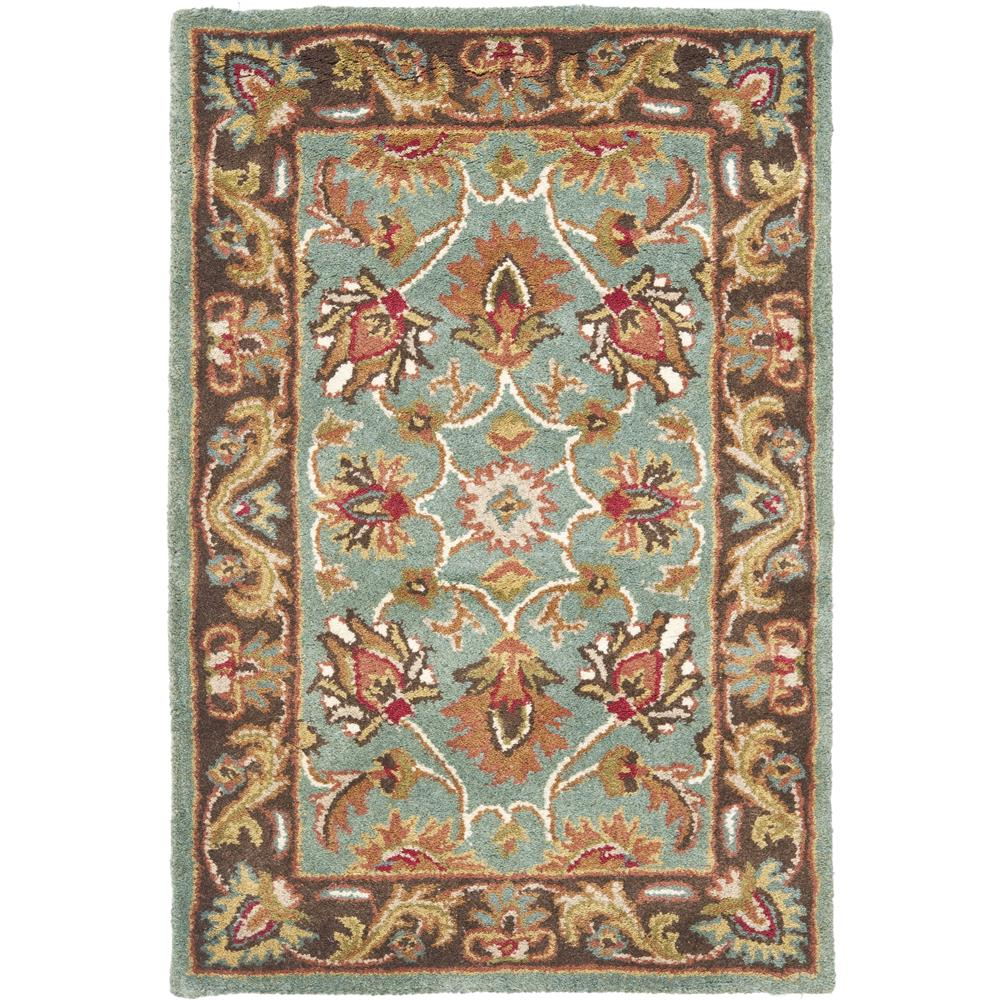 Safavieh HG812B-2 Heritage Area Rug in BLUE / BROWN