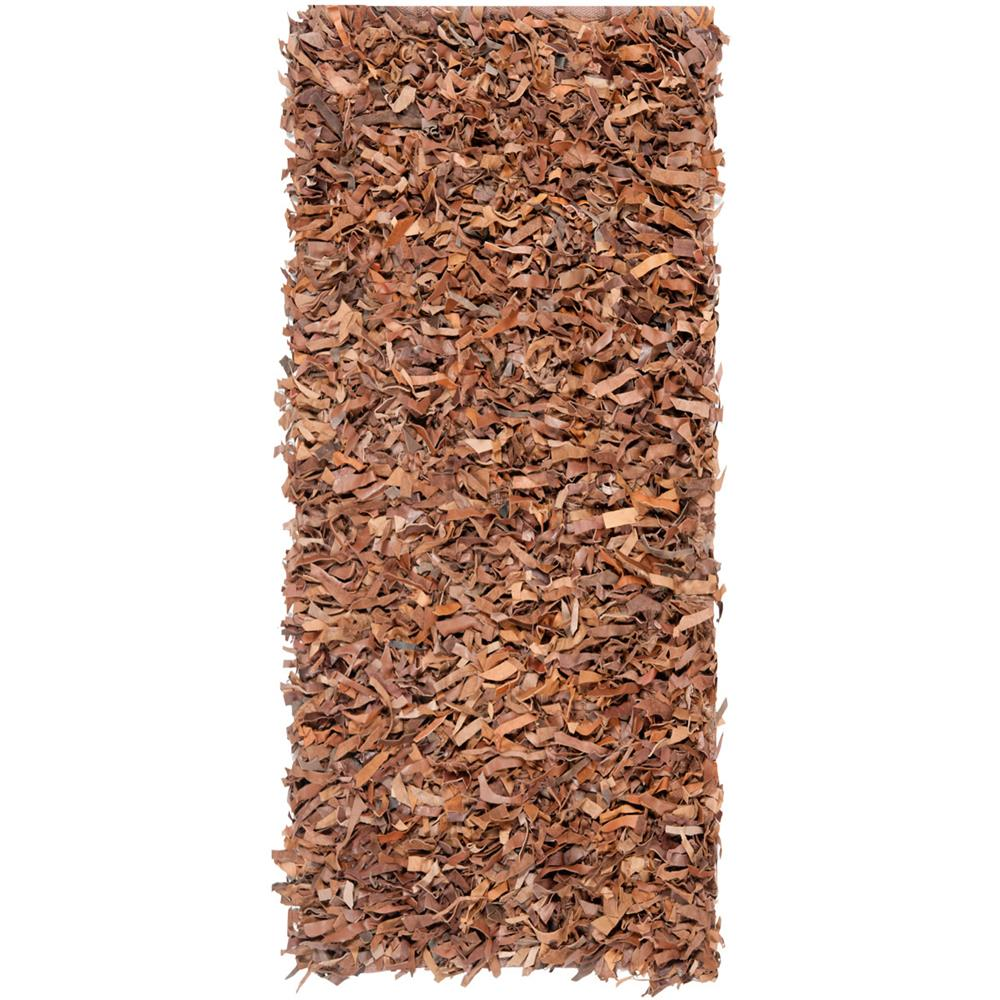 Safavieh LSG511K-29 Leather Shag Area Rug in BROWN