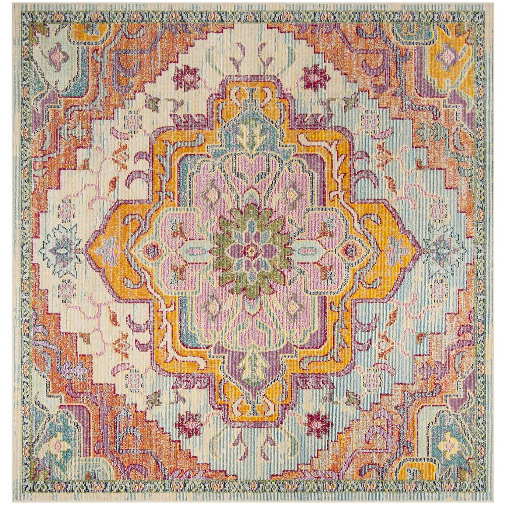 Safavieh CRS501B CRYSTAL Light Blue / Fuchsia Area Rug - 7