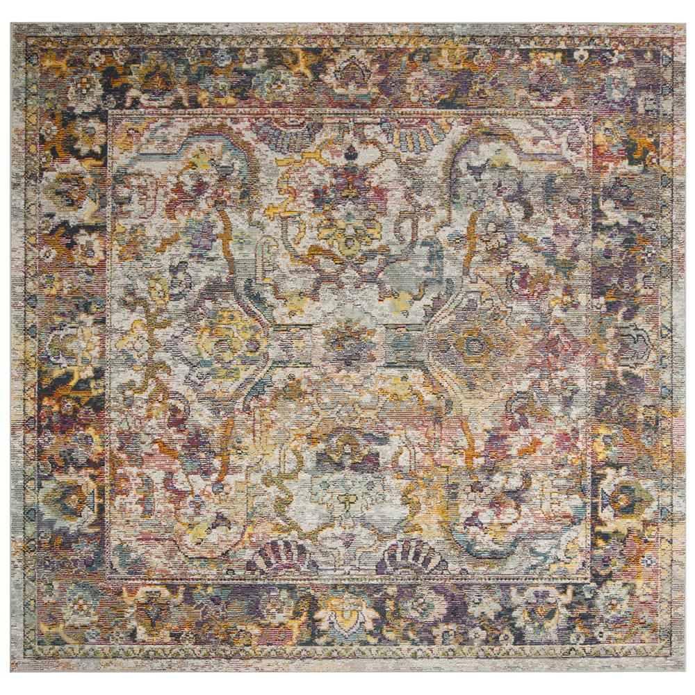 Safavieh CRS504A CRYSTAL Light Blue / Orange Area Rug - 7