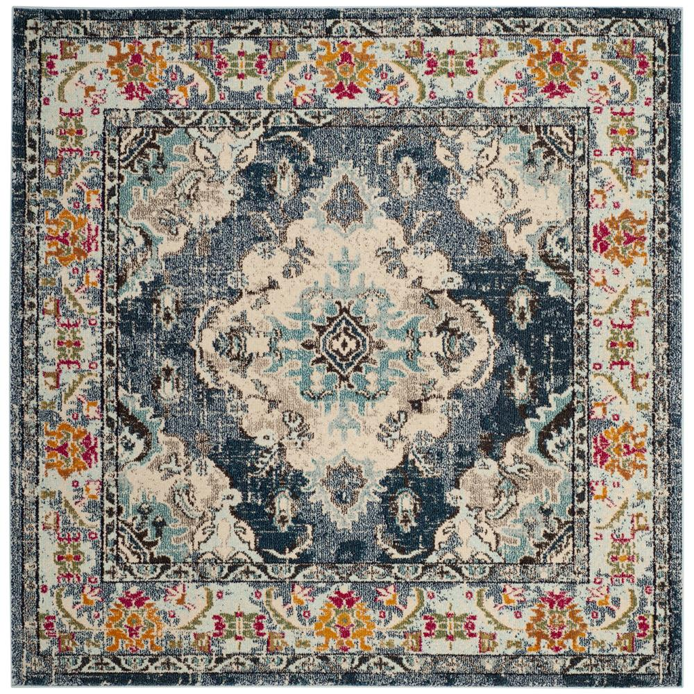 Safavieh MNC243N MONACO Navy / Light Blue Area Rug - 6