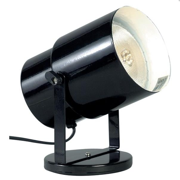 Satco SF77/394 BLACK PLANT OR PIN UP LAMP in Black / Steel