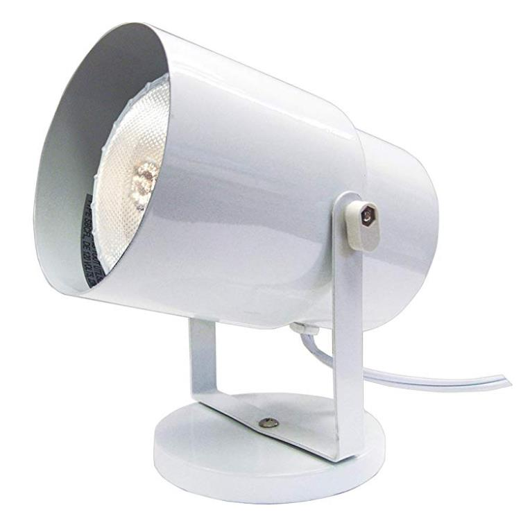 Satco SF77/395 WHITE PLANT OR PIN UP LAMP in White