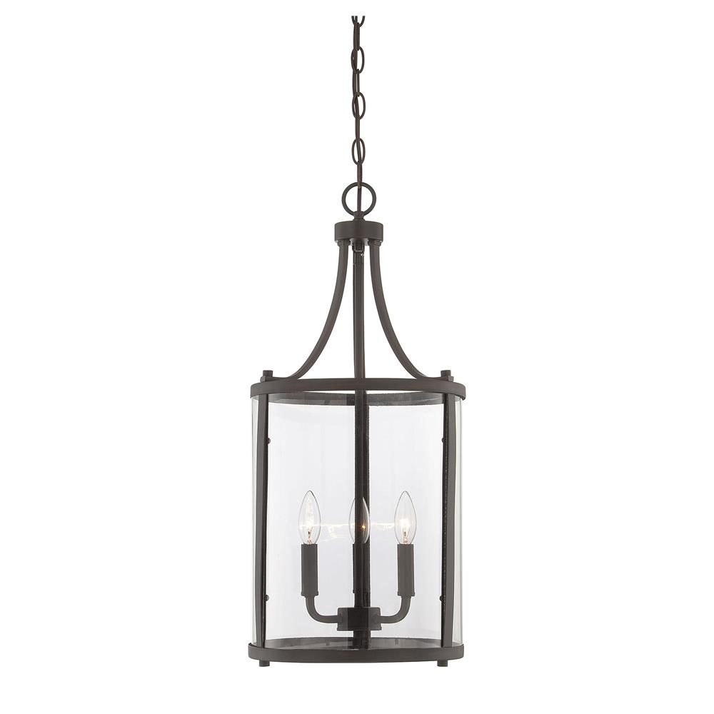 Savoy House 7-1040-3-13 Penrose 3 Light Small Foyer Lantern in English Bronze