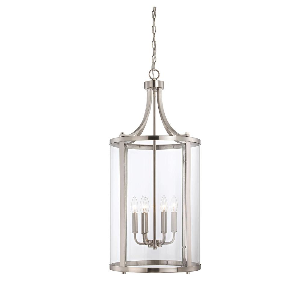 Savoy House 7-1041-6-SN Penrose 6 Light Medium Foyer Lantern in Satin Nickel