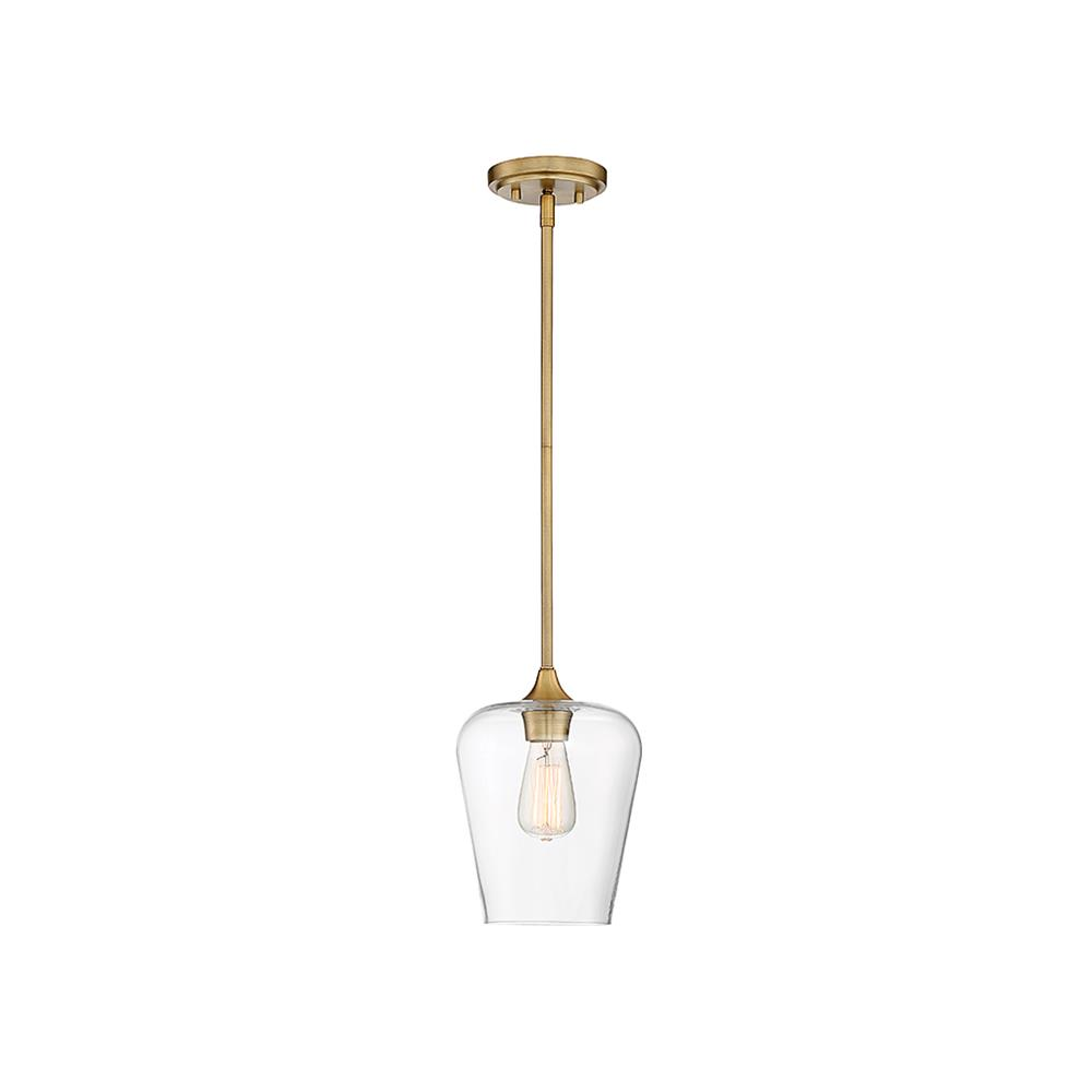 Savoy House 7-4036-1-322 Octave 1 Light Pendant in Warm Brass