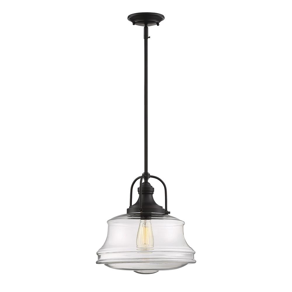 Savoy House 7-5012-1-13 Garvey 1 Light Pendant in English Bronze