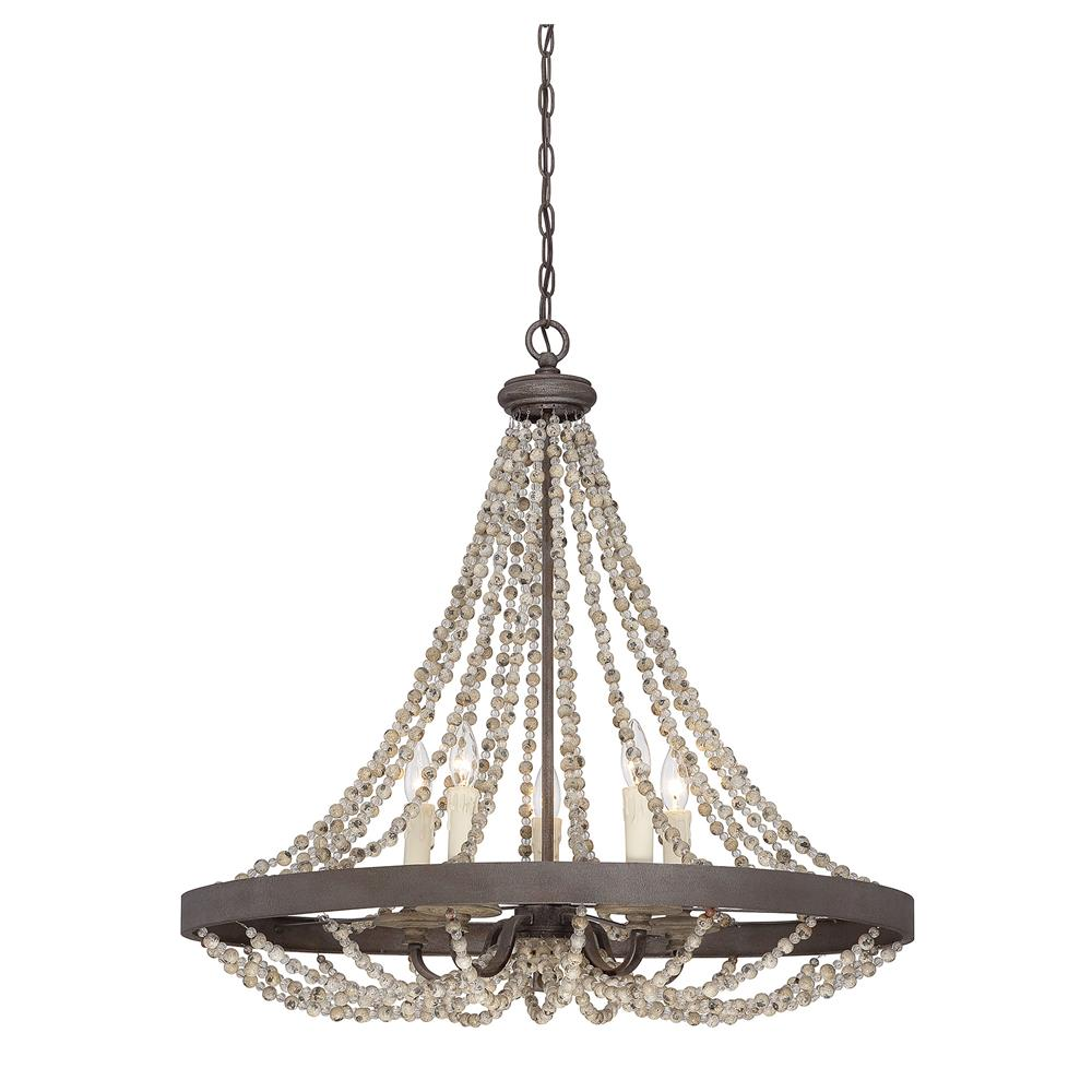 Savoy House 7-7406-5-39 Mallory 5 Light Pendant in Fossil Stone