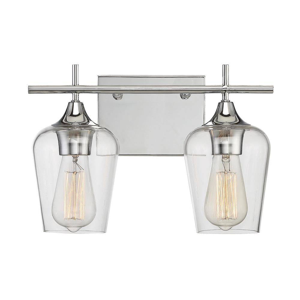 Savoy House 8-4030-2-11 Octave 2 Light Bath Bar in Polished Chrome