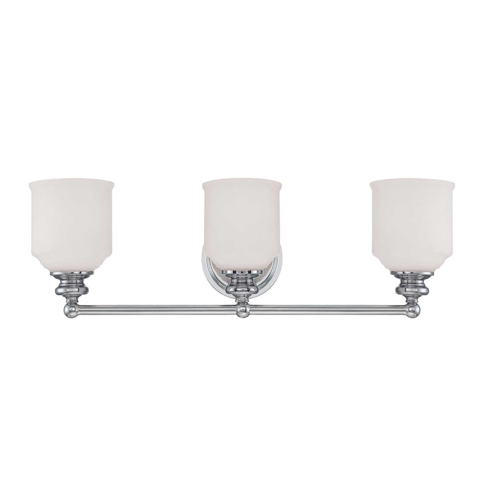 Savoy House 8-6836-3-11 Melrose 3 Light Bath Bar in Polished Chrome
