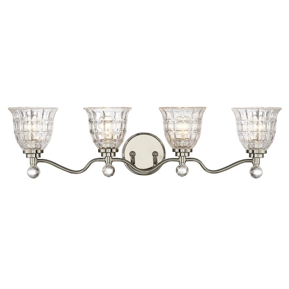 Savoy House 8-880-4-109 Birone 4 Light Bath Bar