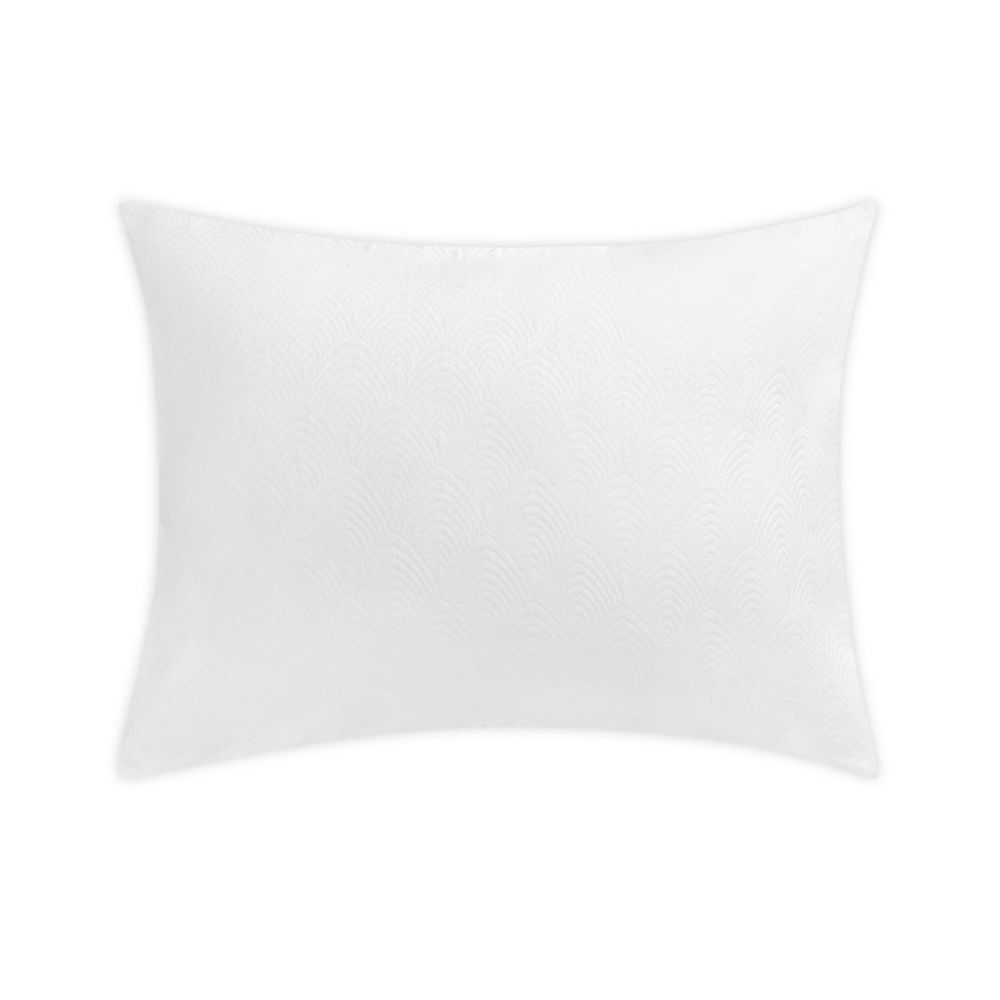 Matouk by Schumacher MSC010KSHAWH Brocatelle King Sham in White