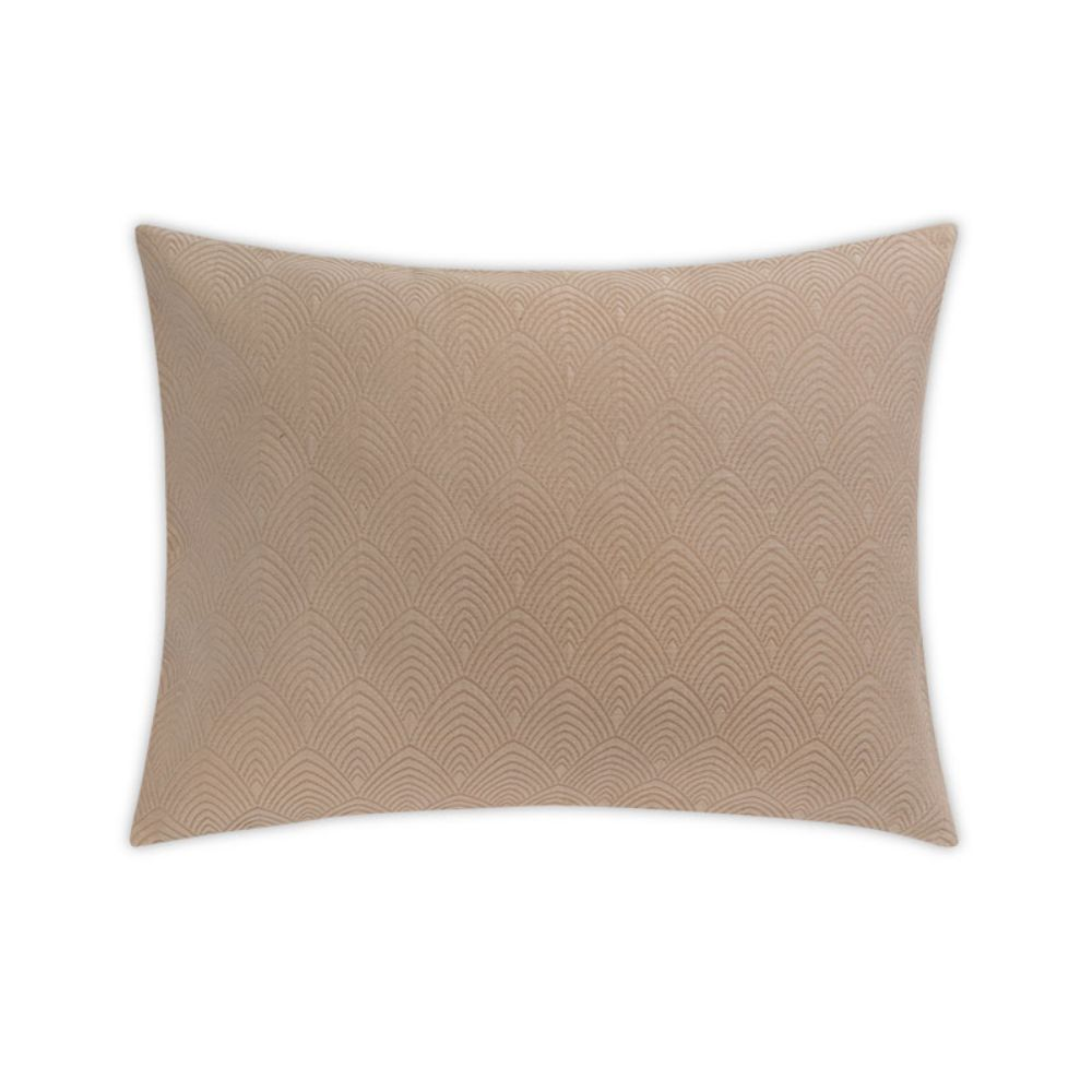 Matouk by Schumacher MSC010SSHAKH Brocatelle Standard Sham in Khaki