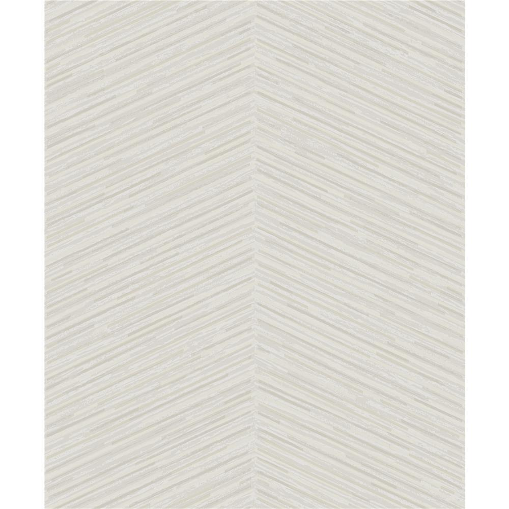 Seabrook Designs AW70700 Casa Blanca 2  Herringbone Stripe Wallpaper in Metallic Champagne and Beige