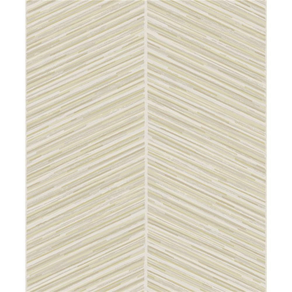 Seabrook Designs AW70703 Casa Blanca 2  Herringbone Stripe Wallpaper in Metallic Gold and Off-White