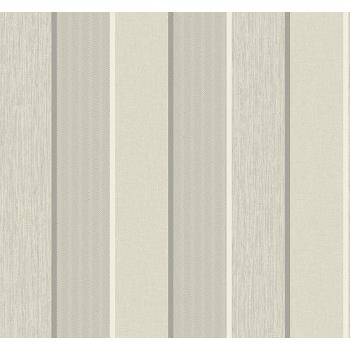 Seabrook ML14400 COLLINS & CO.-MODENA Striped Wallpaper in Gray/ Off White