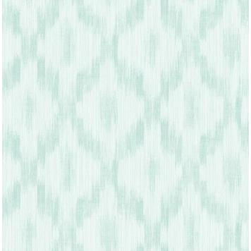Seabrook MT80102 SEABROOK DESIGNS-MONTAGE POMERELLE IKAT Wallpaper in Blue