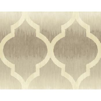 Seabrook MT80405 SEABROOK DESIGNS-MONTAGE CATAMOUNT OGEE Wallpaper in Brown/ Off White