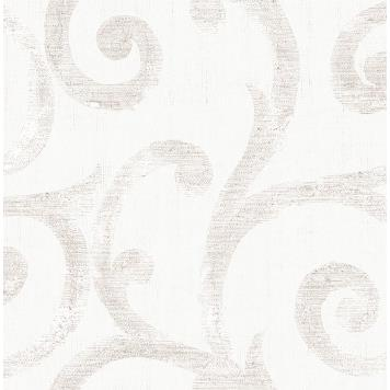 Seabrook MT80807 SEABROOK DESIGNS-MONTAGE SILVERTON Wallpaper in Gray/ Metallic Gold/ White