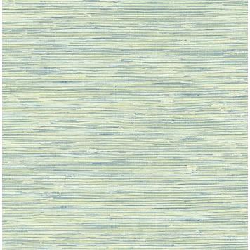 Seabrook MT80902 SEABROOK DESIGNS-MONTAGE SILVERTON GRASS Wallpaper in Blue/ Green/ Metallic Gold
