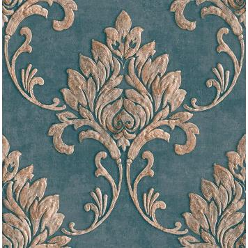 Seabrook MT81602 SEABROOK DESIGNS-MONTAGE TELLURIDE Wallpaper in Blue/ Brown