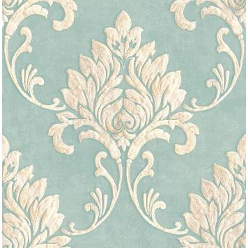 Seabrook MT81612 SEABROOK DESIGNS-MONTAGE TELLURIDE Wallpaper in Blue/ Off White