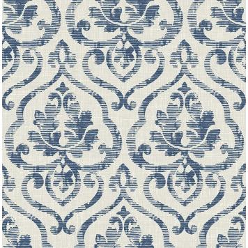 Seabrook MT81910 SEABROOK DESIGNS-MONTAGE TAMARACK Wallpaper in Blue/ Gray