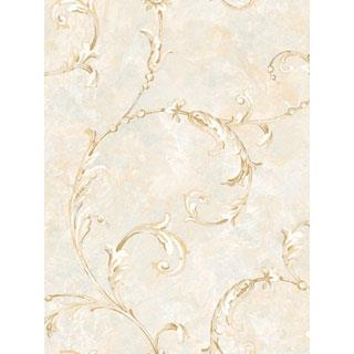 Seabrook Designs SA50309 SALINA Wallpaper in White