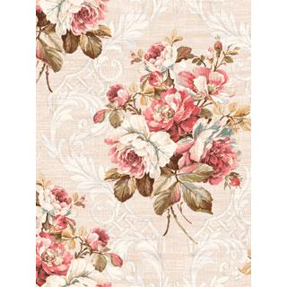 Seabrook Designs SA50401 SALINA Wallpaper in Red