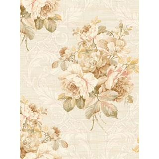 Seabrook Designs SA50402 SALINA Wallpaper in White