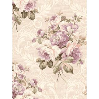 Seabrook Designs SA50409 SALINA Wallpaper in Purple