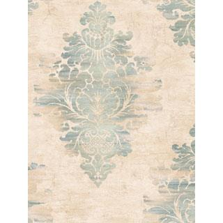 Seabrook Designs SA50602 SALINA Wallpaper in Blue