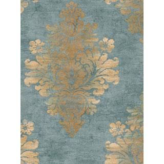 Seabrook Designs SA50612 SALINA Wallpaper in Metallic