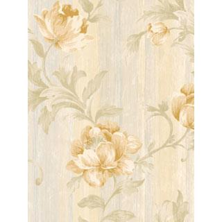 Seabrook Designs SA50902 SALINA Wallpaper in Yellow