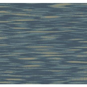 Seabrook Wallpaper TE10202 Collins & Company Wallpaper in Blue / Metallic Gold