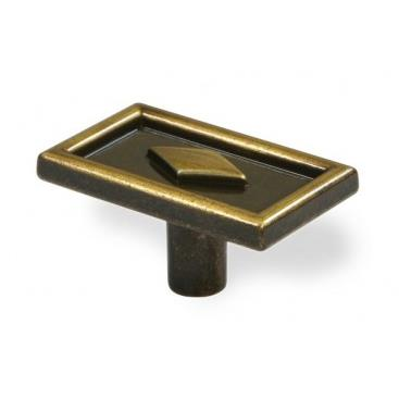 Siro Designs Etc-024 1986-44x26mm Knob Zn31 In Antique Brushed Brass