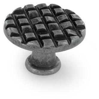 Siro Design 90-228 MOSAIC 30MM ROUND KNOB IN ANTIQUE PEWTER