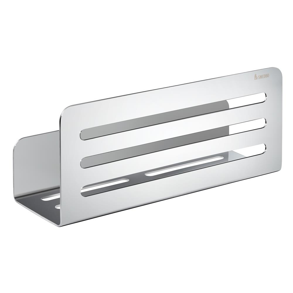 Smedbo DK3051 Self Adhesive Peel & Stick Shower Shelf in Polished Chrome