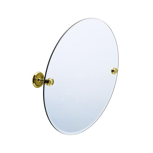 Smedbo V210 22 in. Wall Mounted Round Mirror in Polished Brass Villa Collection Collection