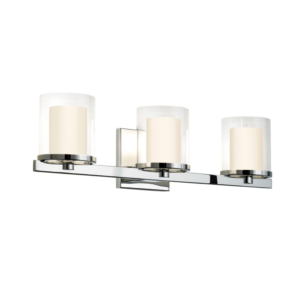 Sonneman 3413.01 Votivo 3-Light Bath Bar in Polished Chrome