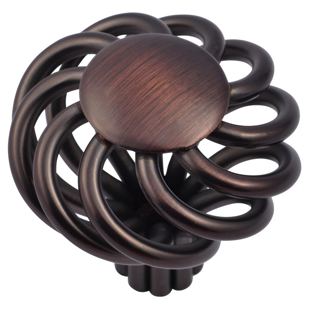 Stone Mill Hardware CP38-OB Oil Rubbed Bronze Cornwall Birdcage Cabinet Knob in Oil-Rubbed Bronze