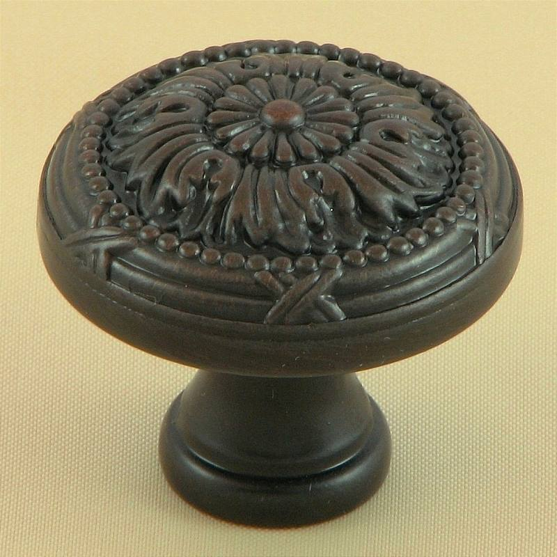 Stone Mill Hardware CP2020-OB Oil Rubbed Bronze Floral Cabinet Hardware Knob in Oil-Rubbed Bronze