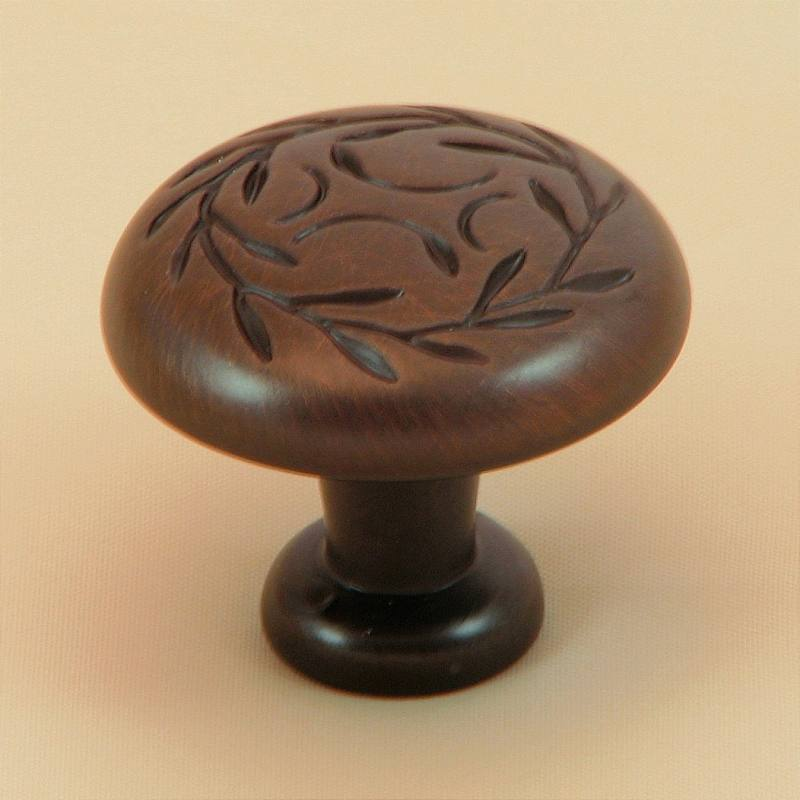 Stone Mill Hardware CP3041-OB Oil Bronze Leaf Cabinet Knob in Oil-Rubbed Bronze
