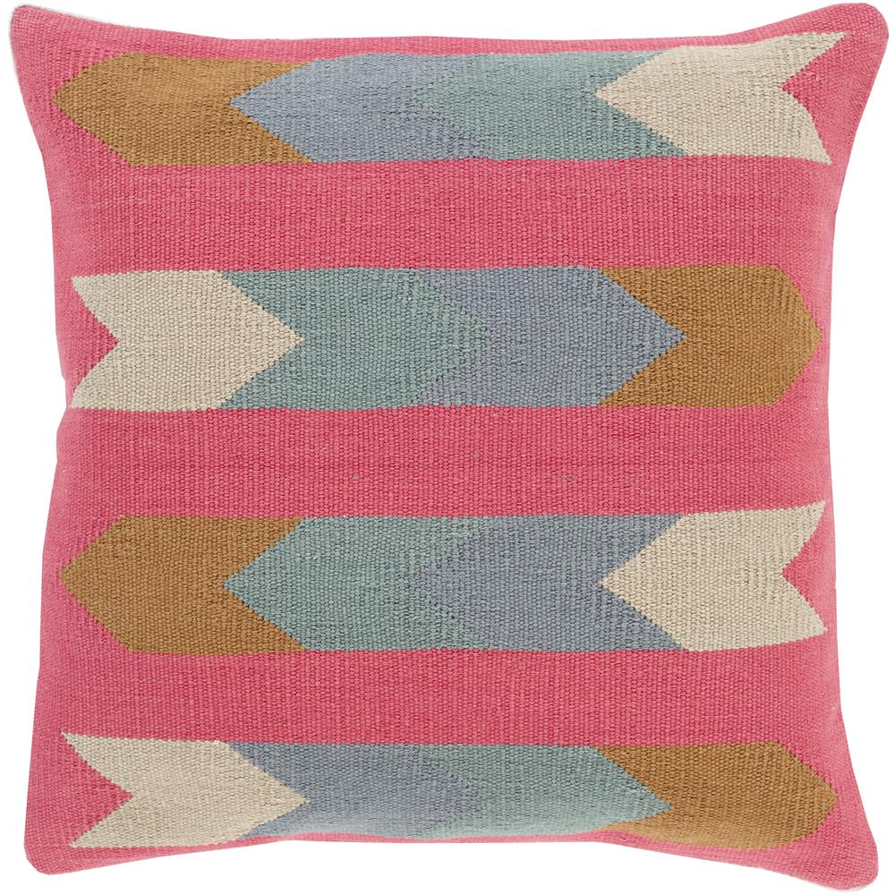 Surya CK009-2222D Cotton Kilim 22 x 22 x 5 Throw Pillow