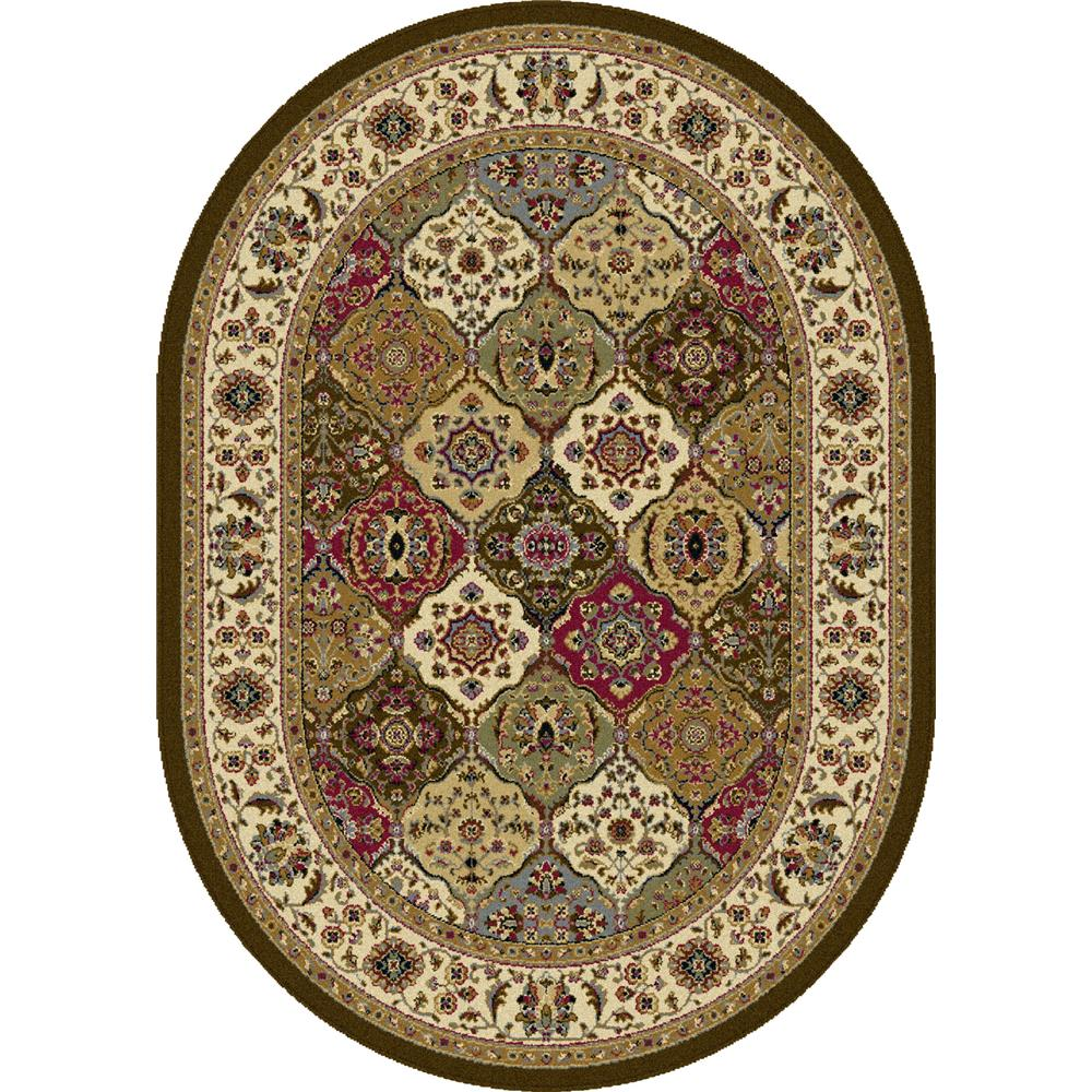 Tayse 4588  Multi  5x8 Oval Laguna Manchester Multi 5 ft. 3 in. x 7 ft. 3 in. Oval Transitional Area Rug